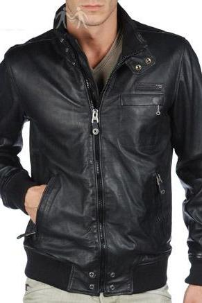 MEN BLACK STYLISH LEATHER JACKET