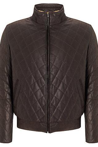 Men Classic quilted Quilted Fashion Leather Biker Jacket Made With Real Leather