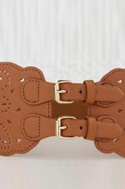 Stylish Openwork Flower Pattern Waist Belt For Women [Glj10010]