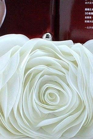 White Clutch Bridal Clutch Bridesmaids Clucth office Work Clutch Purse Eye Catching Evening Purse-Wedding bridal Clutch