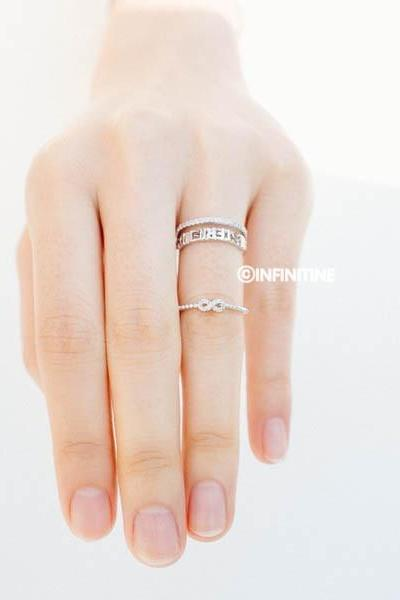 Silver Cz best friend adjustable ring ,best friend ring,best friends ring,infinity ring,infinity jewelry,eternity ring,open best friend ring,graduation ring,infinite ring,adjustable ring,unique ring,bridesmaid ring,anniversary ring,engagement ring,friendship ring,RN2999
