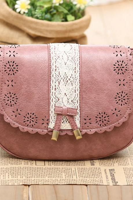 Sweet Lace Bow Messenger Bag&Shoulder Bag