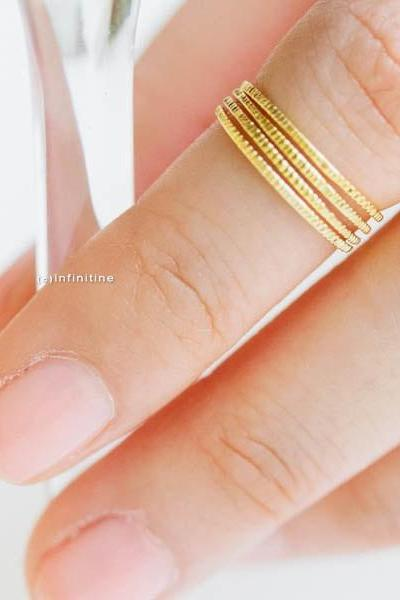 Stackable Thin Knuckle Rings - Gold ,Silver, Rose Gold R131N