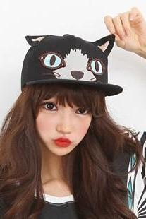 Cat ears baseball cap peaked cap