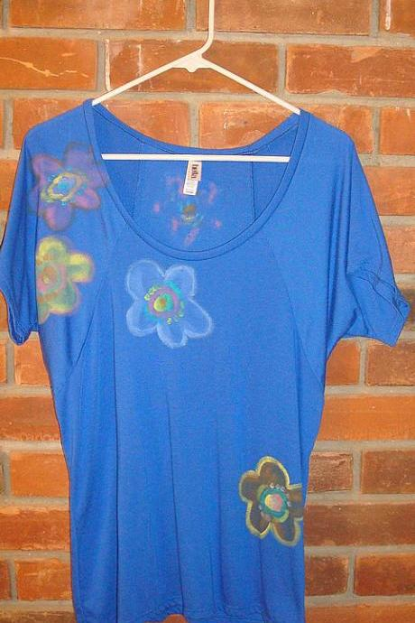 Hand Painted Women's Raglan Sleeve Top