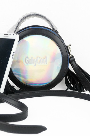 Mini tassel rivet laser female bag