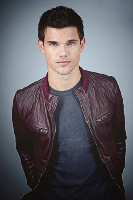 TAYLOR LAUTNER LEATHER JACKET, MAROON BIKER JACKETS
