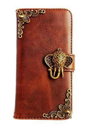 iPhone 5 wallet case,Elephant iPhone 5s case, Victorian iPhone 5 case,iPhone 5 leather case,Victorian Elephant Credit Card wallet iPhone 5s iPhone 5 case cover Brown