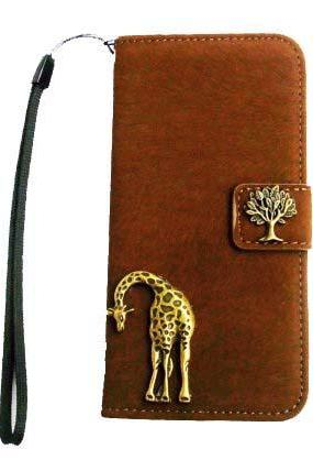 iPhone 5 wallet case,Tree Giraffe iPhone 5s case, iPhone 5 case,iPhone 5 leather case,Vintage Tree Giraffe Credit Card wallet iPhone 5s iPhone 5 case cover Brown
