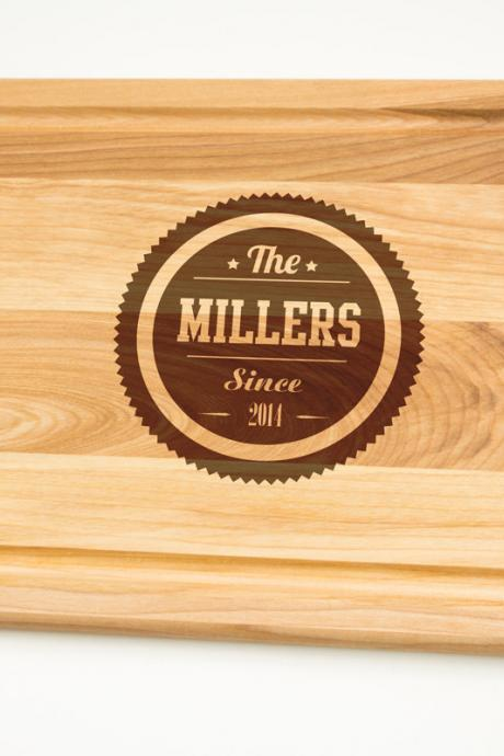 Personalized Cutting Board Gift Engraved gift for wedding Cutting Board select sizes Laser cut engraving on wood House warming decor