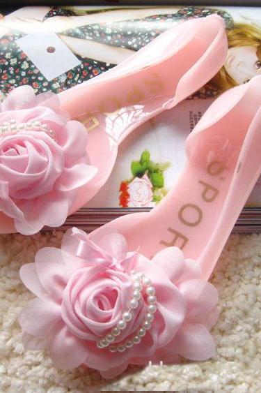 Rose flower sandals GD0702BG