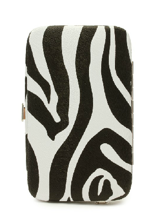 Zebra Print Minaudere , Evening Clutch