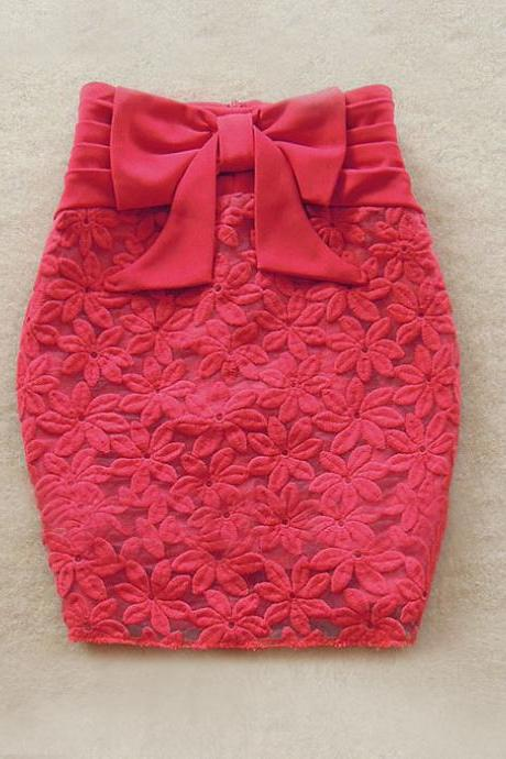 Bow Tie Women's Skirt