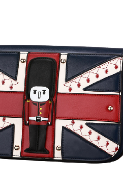 The union flag color institute wind worn tide female bag