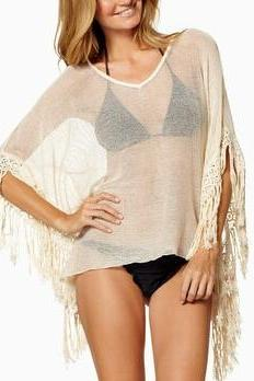Fringed blouse