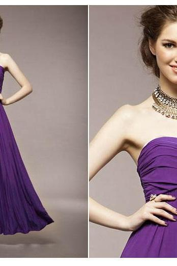 Sexy, Elegant Deep Purple Tube Dress - available in 5 colors