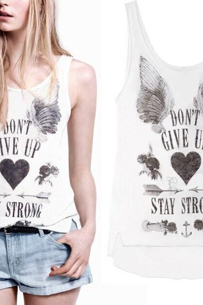 wings Printed vest HT625DB