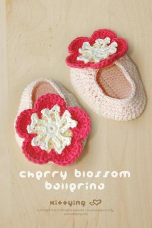 Cherry Blossom Ballerina Crochet PATTERN, SYMBOL DIAGRAM (pdf) by kittying