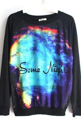 Some Night Vintage Galaxy Hoodie