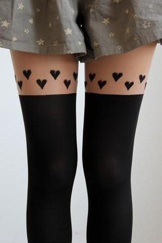 Heart stockings