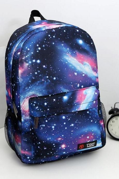 starry sky gradient backpack laptop bag