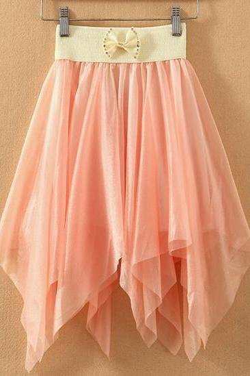 Pretty Chiffon Summer Short Skirt, Short Skirts, Summer Skirt, Skirt