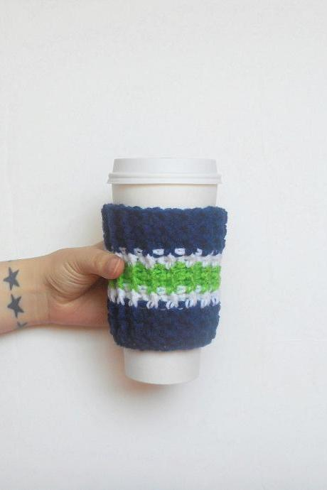 Seattle Team Colors Coffee Cozy.