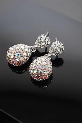 Sale!!! ONLY $3$ !!! New Fashion Cute Lady Crystal Rhinestone Dangle Style Studs Earrings Jewelry
