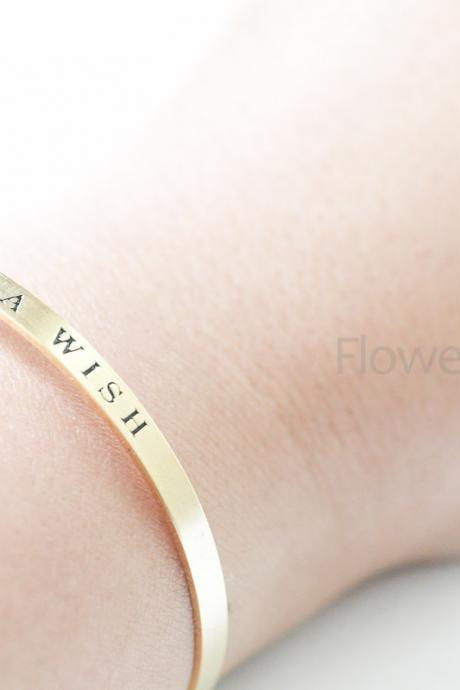 Make Wish bangle adjustable Bracelet