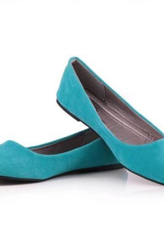 Women Sky Blue Leather Shoes