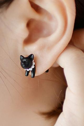 One Piece Cute Beads Cat Earring For Women
