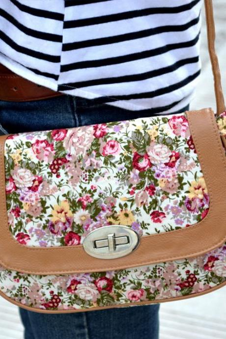 Personality Folk Leisure Floral Printed Shoulder Bag