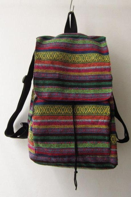 aztec rucksack ,hipster backpack, ethnic school bag, tribal shoulder rucksack gift idea , holiday bag
