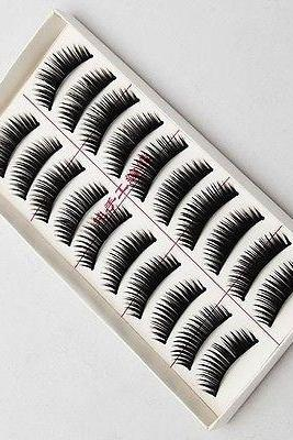 Free shipping New 10 Pairs Natural Or Thick Styles Makeup Long False Eye Lash Eyelashes Black