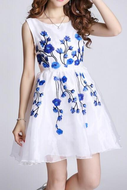 Embroidery embroidered dress AX073004AX