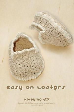 Khaki Easy On Loafers Crochet PATTERN, SYMBOL DIAGRAM (pdf)