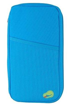 Delicate Cloth Receipt Organizer Pouch (Blue)