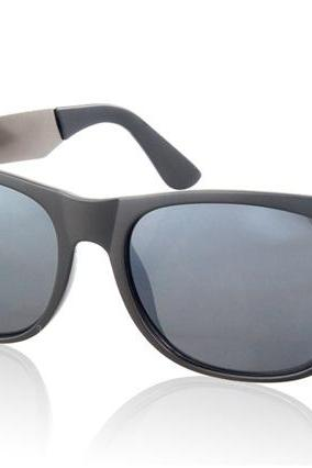 Plastic Lens Polarized Glasses Sunglasses (Grey)