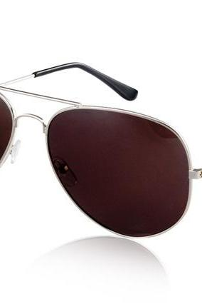 Unisex Polarized Sunglasses with Alloy Frame (Silver)