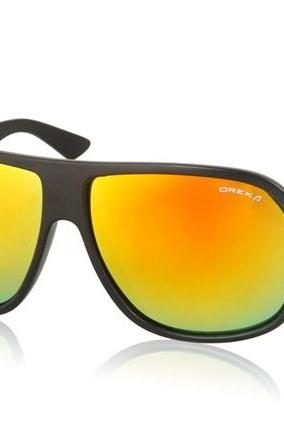 Stylish Coated Lens Glasses Sunglasses (Black)