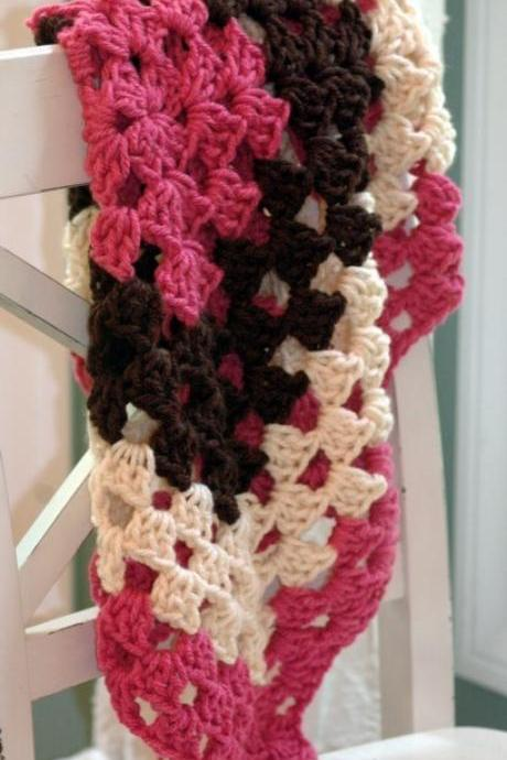 Crochet Pattern Easy Baby Blanket - Granny Square Baby Wrap - PDF 268