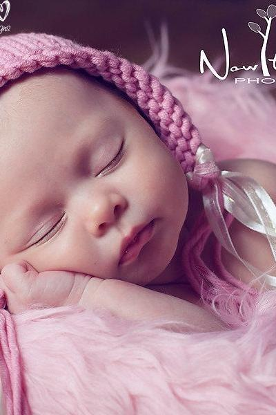 Knitting Pattern - Knit Pixie Hat Pattern PDF 287 - Baby Bonnet Pattern - Pixie Hat Pattern
