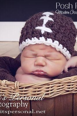 Crochet Hat Pattern Easy Football Beanie Crochet Pattern Newborn to Adult Sizes PDF 162