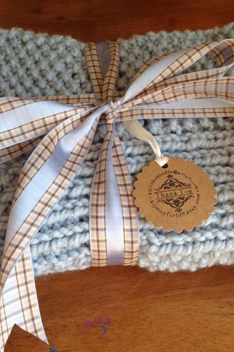 Hand Knitted Baby Blanket 30x30