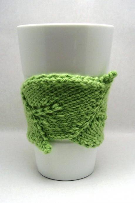 Leaf Cup Cozy Set with Double-Wall Travel Mug