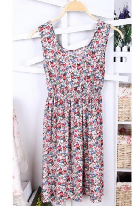 * FREE SHIP * 2013 women's new fashion summer Floral Dress, casual dress for women