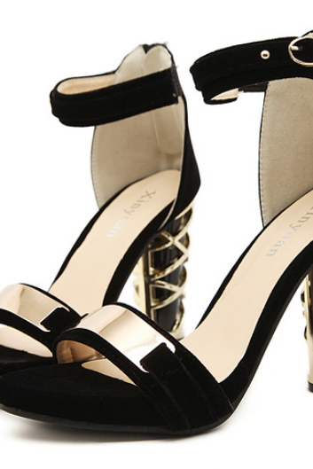 Gorgeous Ankle Strap Athena Peep Toe Sandals in 2 Colors