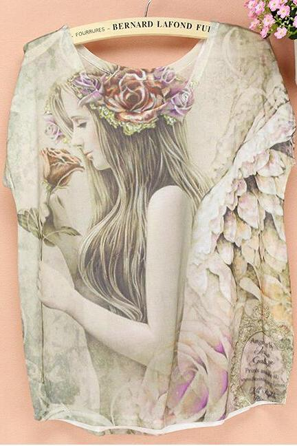 Fashion Printed T-shirt -5 - free shipping