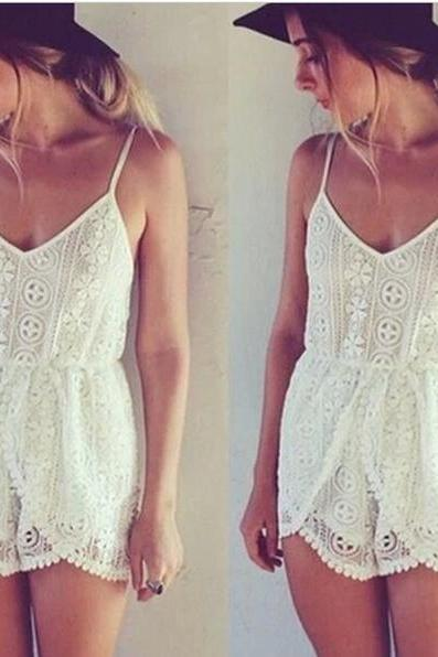 Cute lace jumpsuit hot