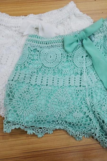 Gorgeous Lace Shorts, Fashionable Lace Shorts